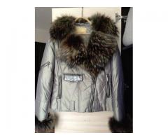 Теплая женская куртка с натуральным мехом
